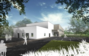 An early architectural impression of the new-build Greenfield Primary School.